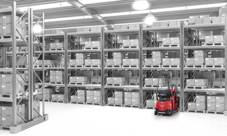 courier, model 3030, agv, Raymond ALT, Raymond AGV, automated lift, automated forklift