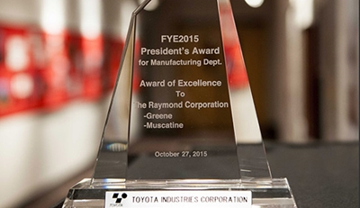 forklift awards, heubel shaw awards, accomplishments, RAYMOND awards
