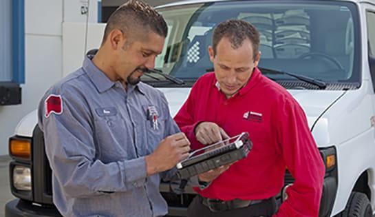 dealer services, forklift service, heubel shaw service