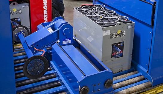 motive power, forklift batteries, battery handling