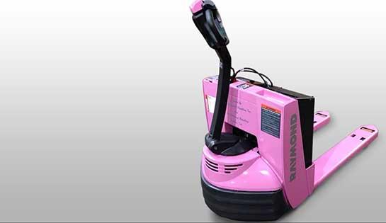 pink forklift