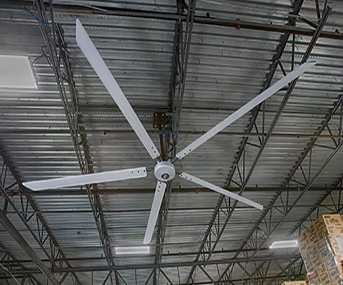 industrial fans, heubel shaw fans, warehouse fans