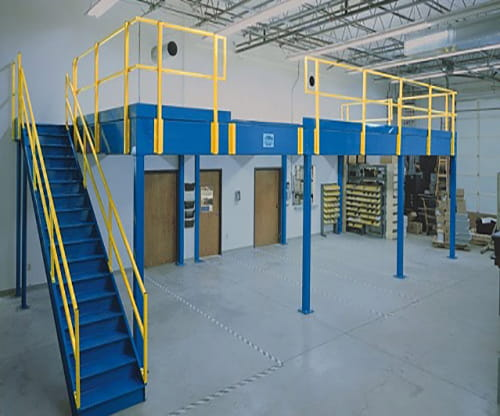 storage solutions, warehouse storage, heubel shaw mezzanines