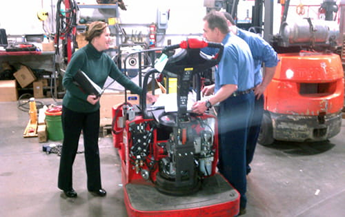 forklift training, heubel shaw training