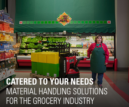 material handling solutions, grocery industry