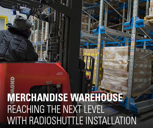 merchandise warehouse, radioshuttle, automation
