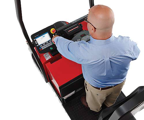 Raymond Courier Automated Lift Truck with graphical user interface