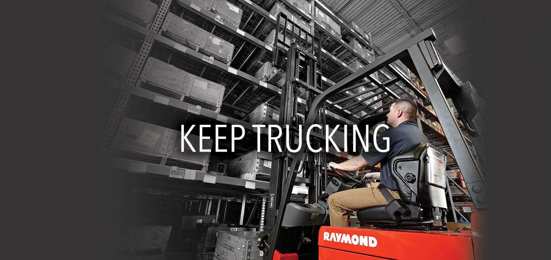Raymond sit down fork truck