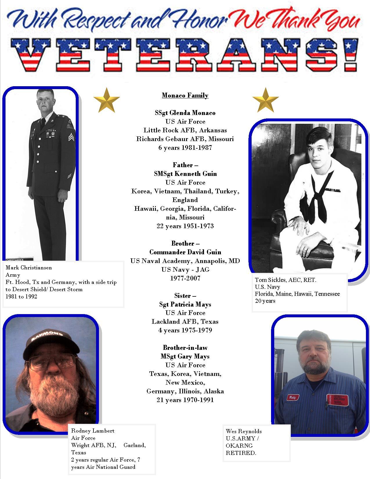 veterans at work